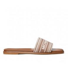 Obuv nazouváky Michael Kors Sadler Striped Logo Jacquard Slide Sandal