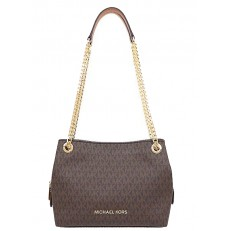 Kabelka Michael Kors Jet Set Signature Medium Chain Messenger brown