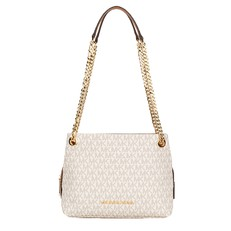 Kabelka Michael Kors Jet Set Signature Medium Chain Messenger vanilla