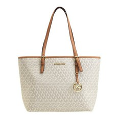 Kabelka Michael Kors Jet Set Travel MD Carryall Tote vanilla/acorn