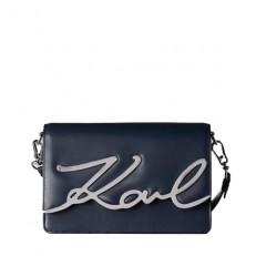 Kabelka Karl Lagerfeld K/Signature Shoulderbag modra