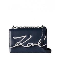 Kabelka Karl Lagerfeld K/Signature Small Shoulder modrá