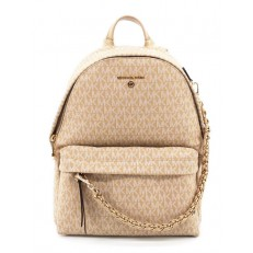 Kabelka Michael Kors Slater Medium Logo Backpack camel