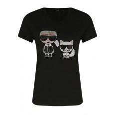 Tričko Karl Lagerfeld Ikon Rhinestone T-Shirt