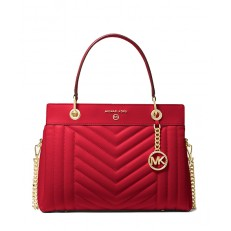 Kabelka Michael Kors Susan Medium Satchel bright red