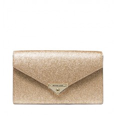Kabelka Michael Kors Grace Medium Metallic Leather Envelope Clutch