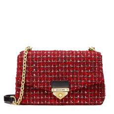 Kabelka Michael Kors Soho Large Tweed Shoulder bright red