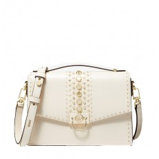 Kabelka Michael Kors Hendrix MD Studded Crossbody light cream