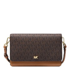 Kabelka Michael Kors Mott Logo and Leather Convertible Crossbody brown