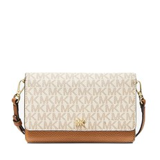 Kabelka Michael Kors Mott Logo and Leather Convertible Crossbody vanilla