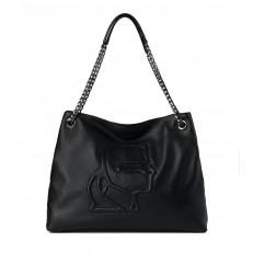 Kabelka Karl Lagerfeld K/Pebble Logo Tote černá