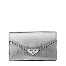 Kabelka Michael Kors Grace Medium Metallic Leather Envelope Clutch