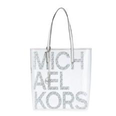 Kabelka Michael Kors The Michael Large Graphic Logo Print Clear Tote bílá