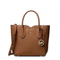 Kabelka Michael Kors Mae Small Pebbled Leather Messenger luggage