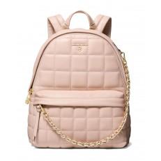 Kabelka batoh Michael Kors Slater MD Quilted Backpack soft pink