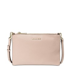 Kabelka Michael Kors Large Pebbled Leather Double-Pouch Crossbody soft pink