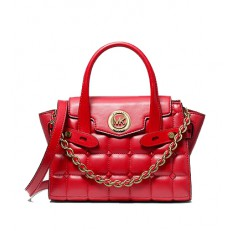 Kabelka Michael Kors Carmen Extra-Small Quilted Satchel bright red