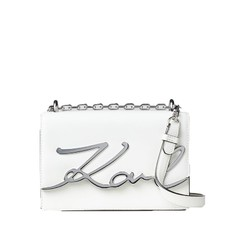 Kabelka Karl Lagerfeld K/Signature Small Shoulder bílá