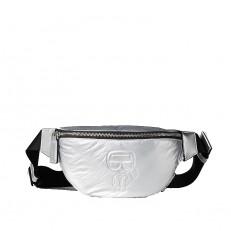 Kabelka ledvinka Karl Lagerfeld K/Ikonik metallic Bumbag
