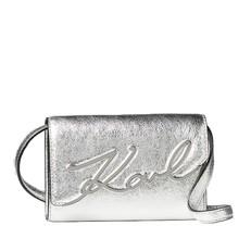 Kabelka Karl Lagerfeld K/Signature Belt Metallic