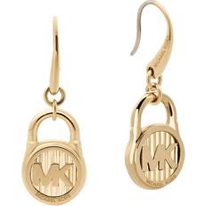 Naušnice Michael Kors Logo Lock zlaté