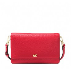 Kabelka Michael Kors Pebbled Leather Convertible Crossbody bright red