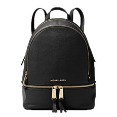 Kabelka Michael Kors Rhea Medium Leather Backpack černá