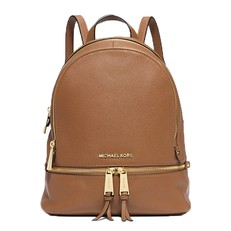 Kabelka Michael Kors Rhea Medium Leather Backpack acorn