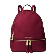 Kabelka Michael Kors Rhea Medium Leather Backpack berry