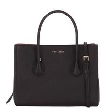 Kožená kabelka Coccinelle C1XA0 černá/merlot