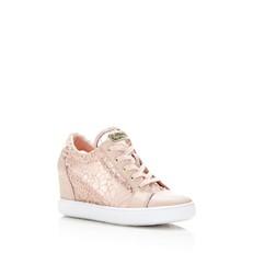 Boty tenisky Guess Finna Lace Wedge růžové