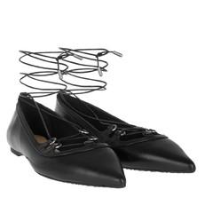 Baleriny Michael Kors Tabby Lace-up Flat černé