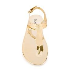 Sandálky Michael Kors Jelly Flat zlaté