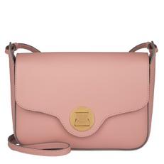 Kožená kabelka Coccinelle Clessidra růžová