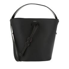 Kožená kabelka Furla Vittoria S černá