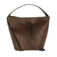 Kožená kabelka Furla Vittoria S hnědá
