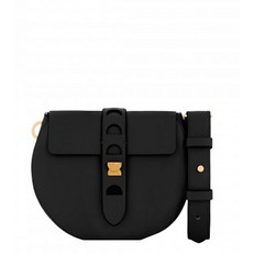 Kožená kabelka Coccinelle Minibag černá