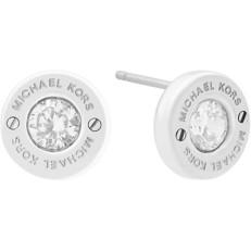 Naušnice Michael Kors Crystal Stud stříbrné