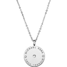 Náhrdelník Michael Kors Logo Disc stříbrný