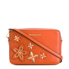 Kabelka Michael Kors Flower Pouch Medium Camera orange