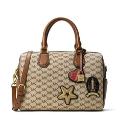 Kabelka Michael Kors Mercer Medium Patches natural/luggage