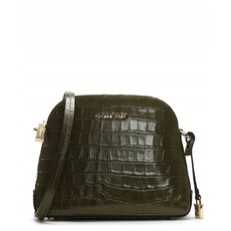 Kabelka Michael Kors Mercer Medium Crocodile Embossed Crossbody olive