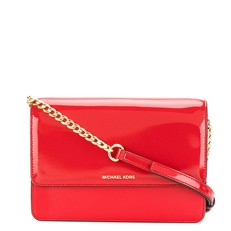 Kabelka Michael Kors Daniela Patent Crossbody bright red