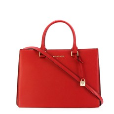 Kabelka Michael Kors Sutton Medium Gusset Satchel bright red