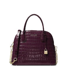 Kabelka Michael Kors Mercer Embossed Dome Satchel damson