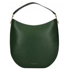 Kožená kabelka Coccinelle Helyette zelená