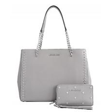 Kabelka Michael Kors Ellis Large Tote + peněženka pearl grey
