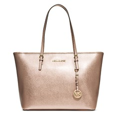 Kabelka Michael Kors Jet Set Travel Top-Zip Tote zlatá