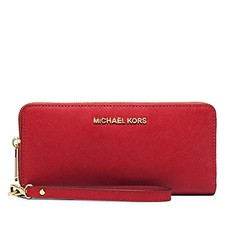 Peněženka Michael Kors Jet Set Travel Continental red