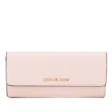 Peněženka Michael Kors Jet Set Travel Slim Saffiano Leather soft pink